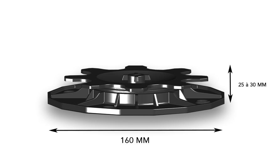 Base plot réglable ACCESS de 25 à 30 mm (carton de 24)