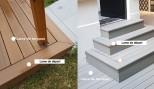 Lame de départ terrasse bois composite Ultraprotect