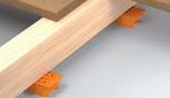 Cale crantée réglable de 11 à 40 mm - pour lambourde terrasse