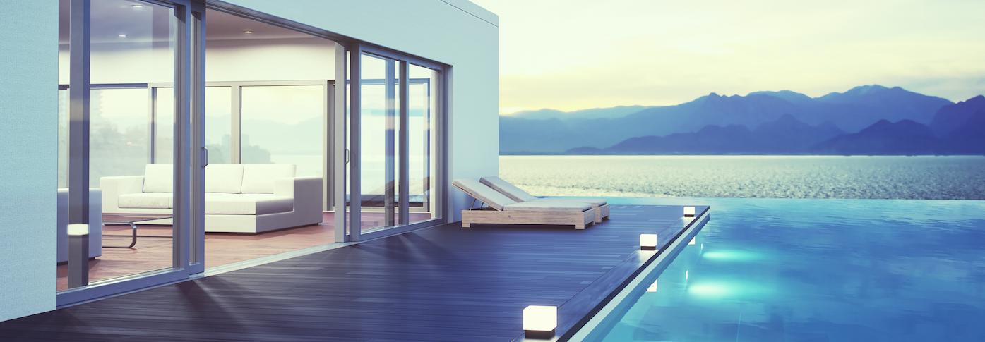 Photo terrasse bois composite noyer